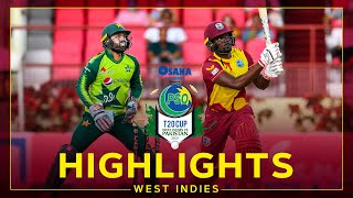 Highlights   West Indies v Pakistan   Rain Stops Play   4th Osaka Presents PSO Carient T20 Cup Match