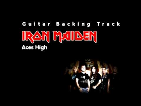 Iron Maiden - Aces High (Guitar - Backing Track) W/ Vocals