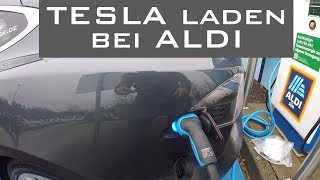 Strom-Garage -- Tesla laden bei ALDI