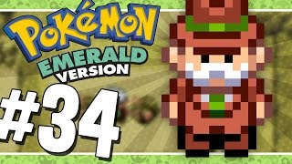 Pokémon Emerald: Grass Run   Mirage Tower - 34 (Game Boy Advance Gameplay Walkthrough)