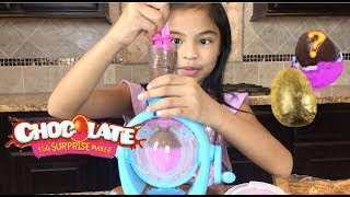 DIY Chocolate Surprise Eggs + Choco Egg Maker + Surprise Toys | Toys Academy