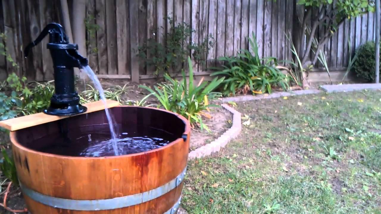 Wine Barrel Fountain Youtube