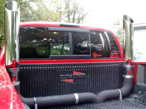 2001 dodge ram cummins dual 6 stacks youtube - Dodge Ram 3500 Dually Lifted With Stacks