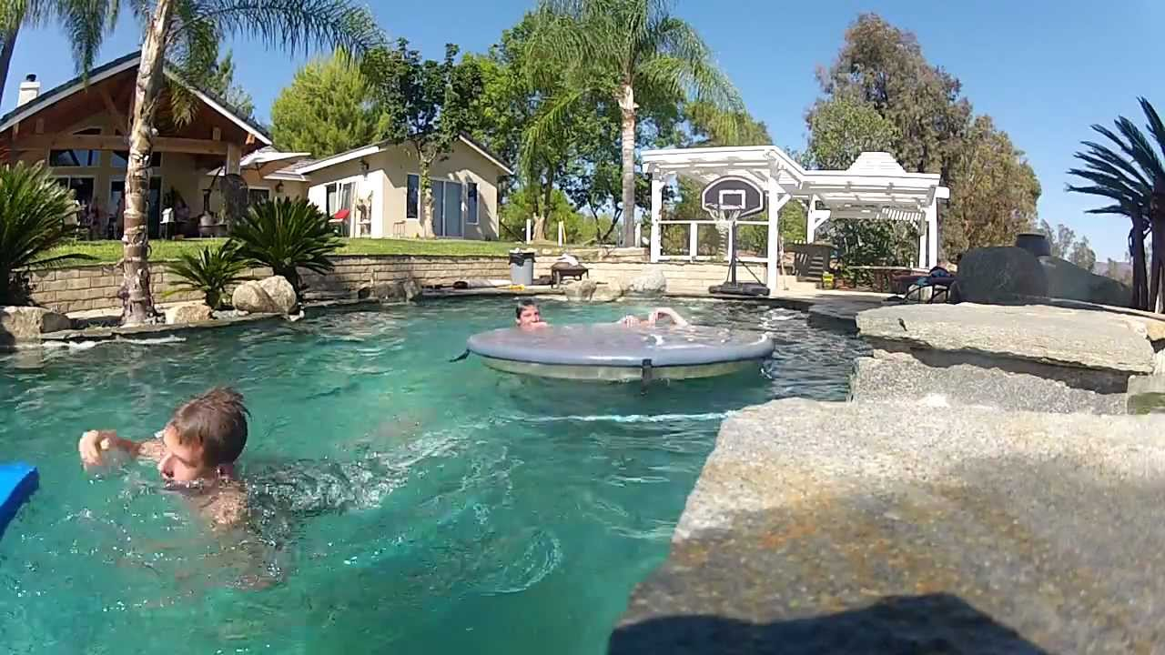 Hd gopro king of the hill in pool epic fail youtube for Epic pool show