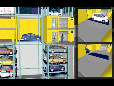 PTV Vissim: Automated Parking Simulation