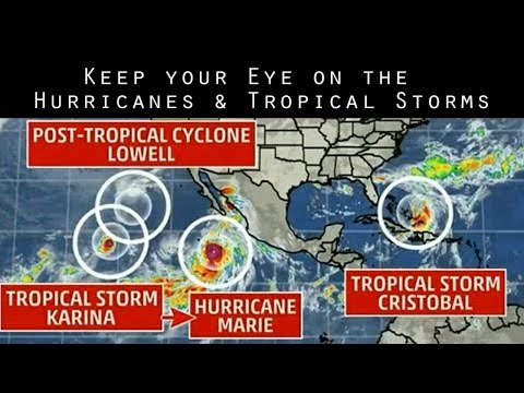 4.5 Hurricanes & Tropical Storms surround N. & S. America - Stay Alert!