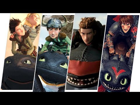 Hiccup & Toothless Evolution (How to Train Your Dragon).