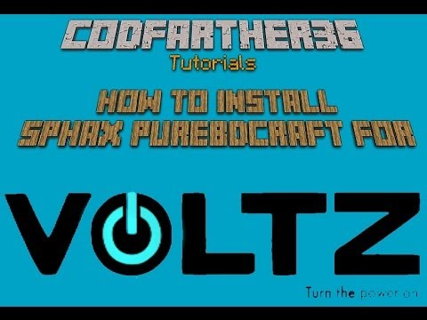 [Voltz Tutorial] How to install Sphax purebdCraft.