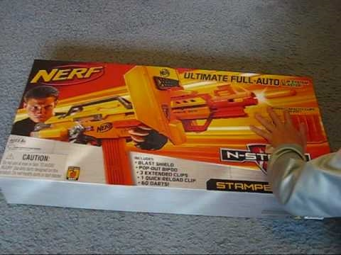 Nerf stampede ECS un-boxing and review! 9-9-10 gun