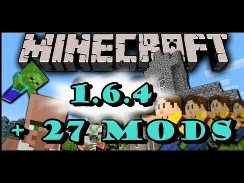 como descargar minecraft 1.6.4 con 27 mods [link en mega] 2014