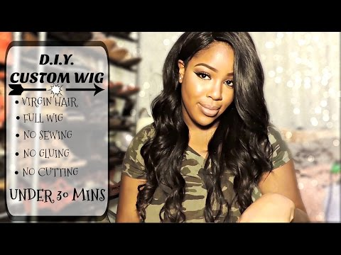 D.I.Y. FULL WIG   SNAP WEAVE HAIR REVIEW  STYLING  TALK THROUGH