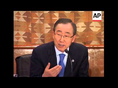 UN Sec Gen, Ban Ki-moon comments on situation in the country