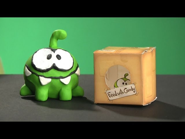 Cut the Rope - OM NOM Clay Model and papercraft