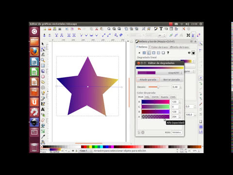 Tutorial de Inkscape de la sección Degradados y Transparencias