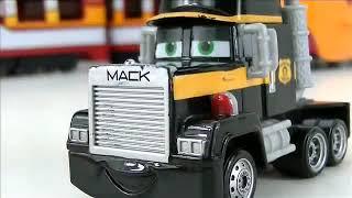 Disney CARS Toys Mack Truck Hauler Toy Mini Adventures Lighting McQueen Black Mack Truck H
