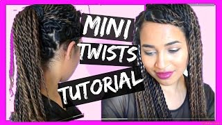 Quick Easy TWO STRAND MINI TWIST tutorial - protective style | Lana Summer