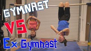 Gymnast VS Ex-Gymnast - Gymnastics Competition| Rachel Marie FT. Alize Lee