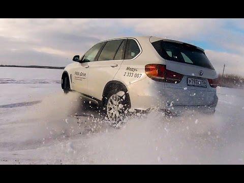 BMW X5 F15 2015 по снегу и льду тест-драйв. (БМВ Х5 дизель 249 сил)
