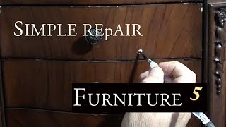 How to Repair Chips Dents and Touch up Furniture  DIY Ep5 -Mahogany Jewelry Cabinet - MPI Cabinet