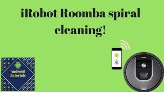iRobot Roomba spiral cleaning!