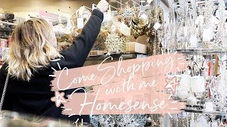 COME CHRISTMAS SHOPPING WITH ME IN HOMESENSE + HAUL | Hello October AD