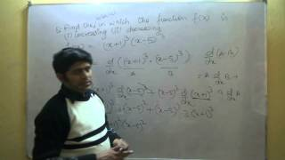 Class 12 Maths CBSE - Increasing Decreasing Functions Part 1