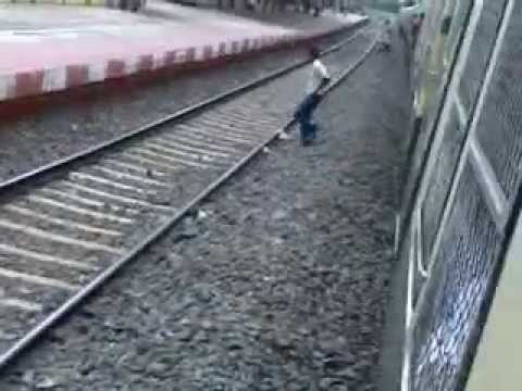 A Local Train In To Out Of Platform video