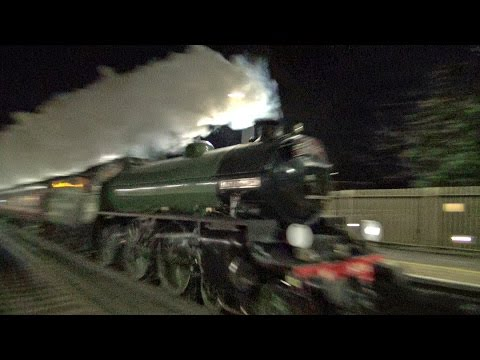 The Mayflower steam locomotive paid a rare visit, down to the south coast, here she is passing through Witley & Hassocks train stations, then filling up with water at Preston Part station,...