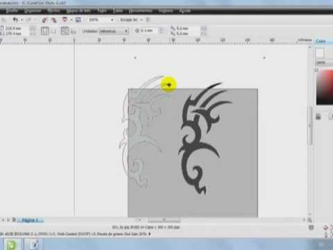 tutorial de dibujo corel DRAW X5
