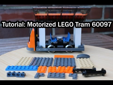 How to motorize the LEGO City 60097 tram with 9V (Tutorial)