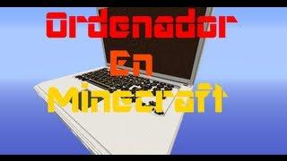 Ordenador en minecraft ¡FUNCIONA!