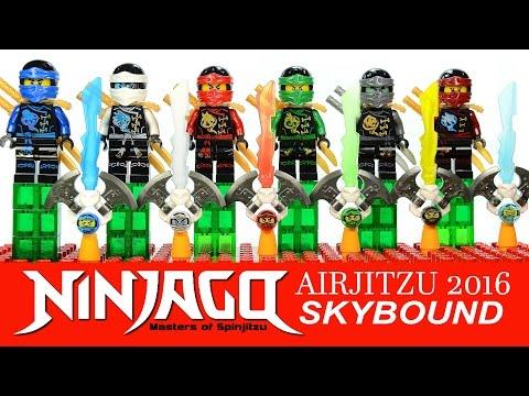 Ninjago Airjitzu 2016 Skybound LEGO KnockOff Minifigures DeCool w/ Jay Kai Lloyd Zane Cole & Nya