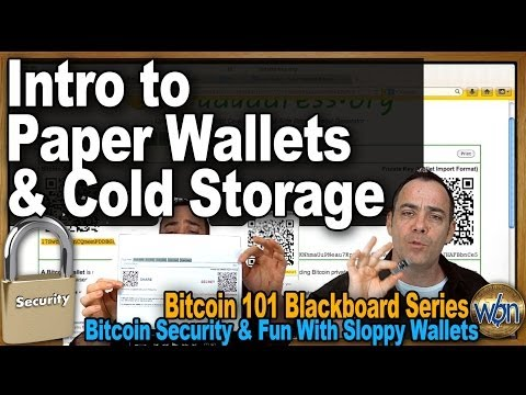 Bitcoin 101 - Intro To Paper Wallets & Cold Storage - Bitcoin Security & Fun With Sloppy Wallets