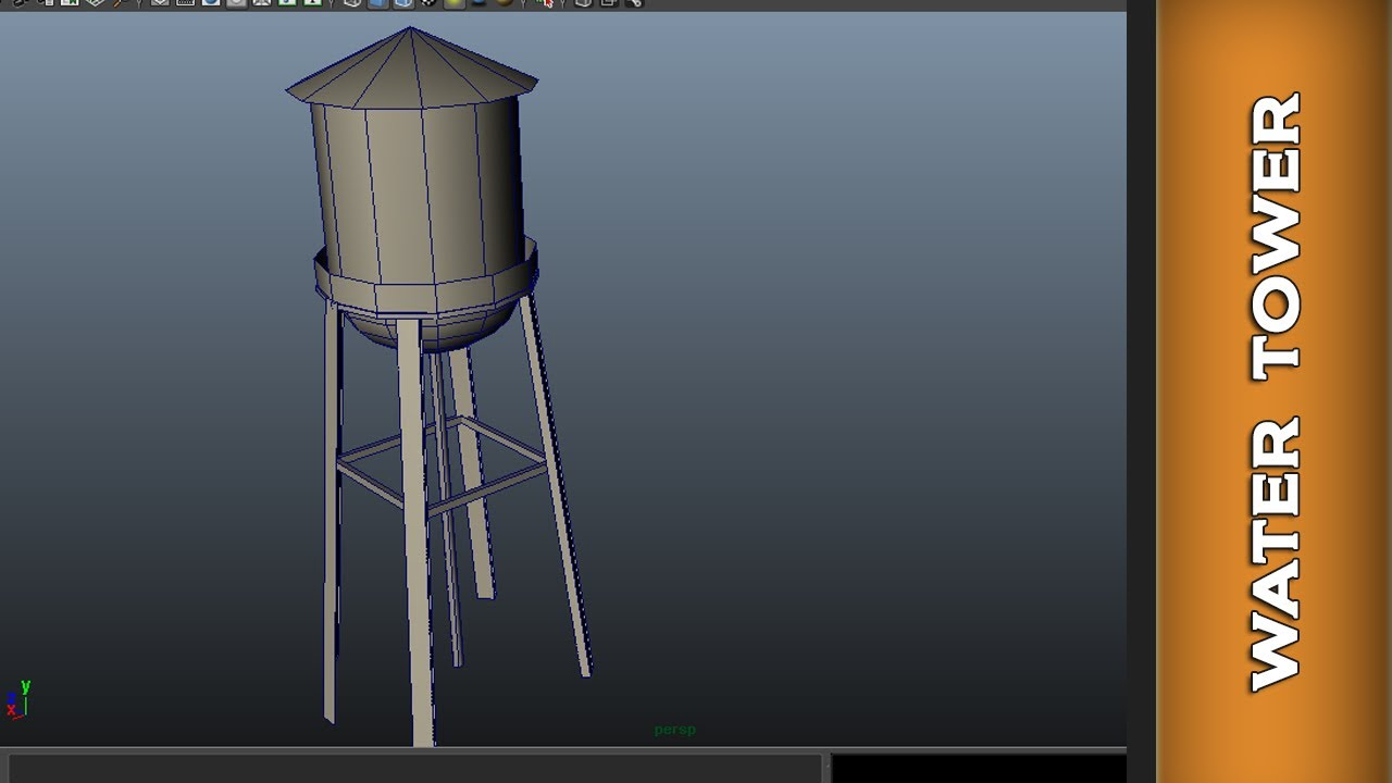 Model Water Tower Modeling Water Tower