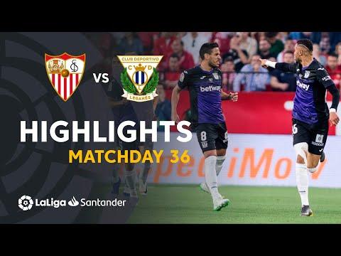 Highlights Sevilla FC vs CD Leganes (0-3)
