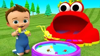 Little Baby Learning Colors for Children with Frogs in Eggs Fun Play 3D Toys for Kids Toddlers Edu