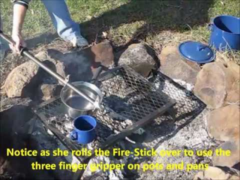 Fire-Stick - The Ultimate Campfire and Fireplace tool - Fire Poker  - Camp - Cooking - Grill
