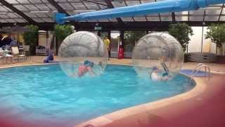 Running in a giant ball fun xxx