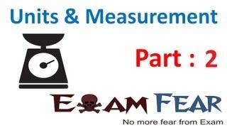 Physics Unit and Measurement Part 2 Length Measurement and Parallax Method Class X1 CBSE