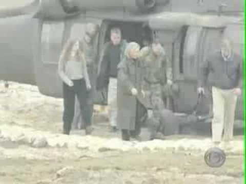 Hillary Clinton dodges sniper fire in Bosnia - raw footage Video