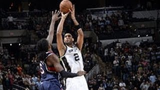 Tim Duncan Hits the Game-Winner to Beat the Hawks!