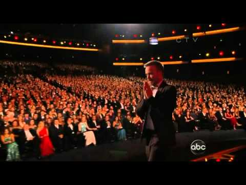 Aaron Paul wins an Emmy for Breaking Bad at the 2012 Primetime Emmy Awards!