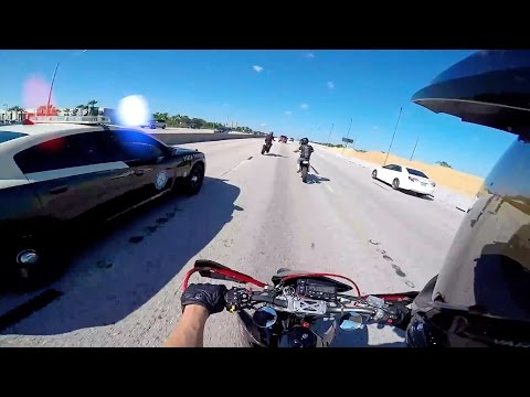 Cops VS Bikers 2016 [Ep.#09] Highway Police Chase! Getaway Crash! Arguing With Police!