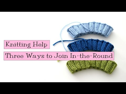 How To Join Knitting Stitches In The Round : Simple Stretchy Bind Off