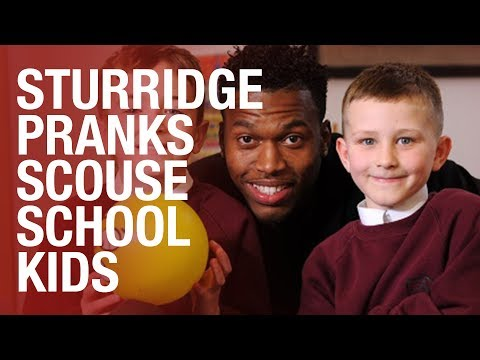 Daniel Sturridge plays school camera prank