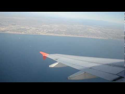 Spirit Airlines Airbus A319-100 Take Off From Los Angeles International Airport California USA