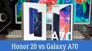 """Сравнение Samsung Galaxy A70 и Honor 20: """"Избиение Младенца"""""""