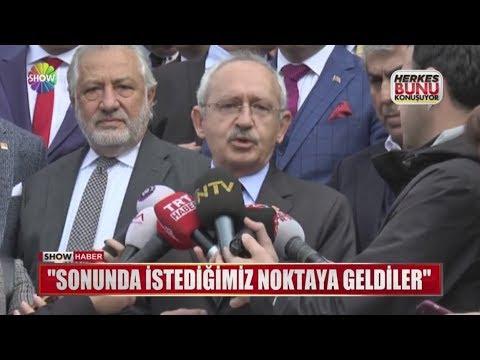 """Kılıçdaroğlu: """"Sonunda istediğimiz noktaya geldiler"""""""