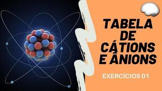 TABELA DE CÁTIONS E DE ÂNIONS E MONTAGEM DE FÓRMULAS - Aula 02 - Exercícios PASSO A PASSO (HRF)