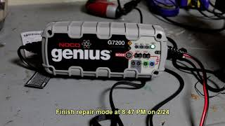 The Noco Genius G7200 Charger Repair Mode - Does it work?